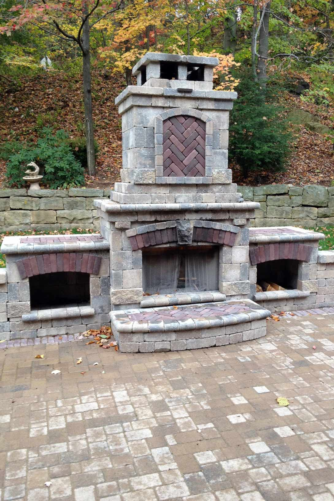 Fire pit Installation Ross Township