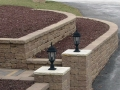 Two tiered Retaining Walls with Pillar Pittsburgh
