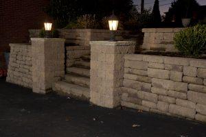 Retaining Wall with Pillars